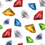 Gems seamless background Royalty Free Stock Photo