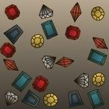Gems set #1 Stock Images