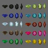 Gems set. Color gems set in vector stock illustration