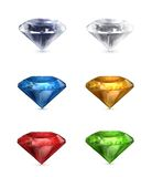 Gems set of icons Royalty Free Stock Photos