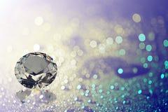 Gems on shiny bokeh background Stock Images