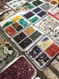 Gems shop from Burma. Various gem from Thai-burma shop Stock Images