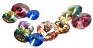 Gems on white background Royalty Free Stock Photography