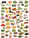 Gemüse, Früchte und Muttern. Stockfoto