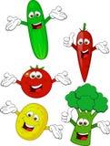 Gemüsekarikatur Stockfotos