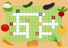 Gemüsekreuzworträtsel Lizenzfreie Stockfotografie