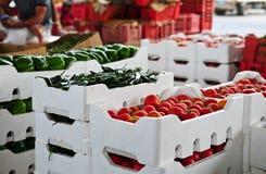 Gemüsemarkt Stockfotografie