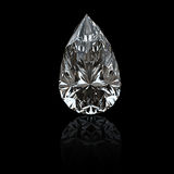 Gemstome shape of pear. Jewelry gems on black background. Pear Stock Photos