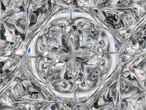 Gemstone or Abstract diamond texture closeup and kaleidoscope vector illustration