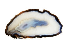 Gemstone agat odosobniony o na białym tle Zdjęcia Stock