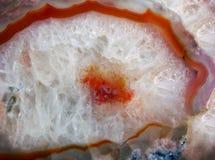 Gemstone agata makro- tekstura Fotografia Royalty Free