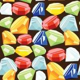 Gemstone bezszwowy wzór Ilustracji