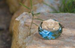 Gemstone closeup lying on the stone Stock Photos