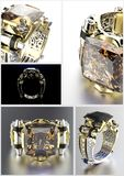 gemstone Collezioni di gemme dei monili illustrazione di stock