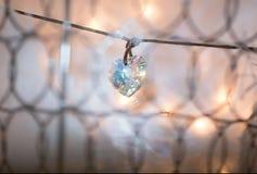 Gemstone crystal pendant, shape of a heart Stock Photography