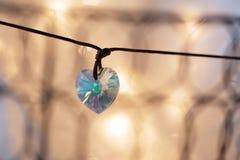 Gemstone crystal pendant, shape of a heart Royalty Free Stock Photo