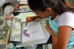 Gemstone Cutting Shop in Ratnapura, Sri Lanka. A Gemstone Cutting Shop in Ratnapura, Sri Lanka royalty free stock images