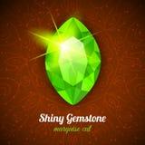 Gemstone on dark background Royalty Free Stock Images