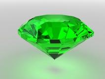 Gemstone Dark-green rendido com sombras macias ilustração do vetor