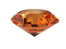 Gemstone Dark-orange isolado no branco Imagens de Stock
