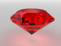 Gemstone Dark-red rendido com sombras macias Ilustração do Vetor
