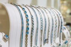 Gemstone decorated bracelets collection, Ceylon Stock Photography