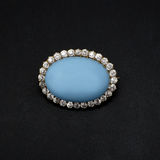 Gemstone and Diamond Brooch Stock Photography
