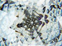 Gemstone or diamond texture closeup and kaleidoscope stock photography