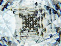 Gemstone or diamond texture closeup and kaleidoscope royalty free stock photo