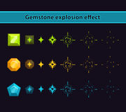 Gemstone Explosion Effect Stock Photos