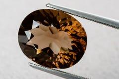 Gemstone för rökig kvarts arkivfoto
