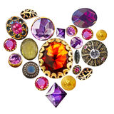 Gemstone heart Royalty Free Stock Photos