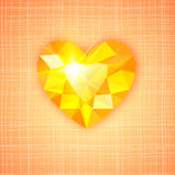 Gemstone heart shaped on textured background Royalty Free Stock Photos