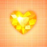 Gemstone heart shaped on textured background royalty free stock photos