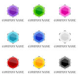 Gemstone Icon And Logo Designs Royalty Free Stock Photo