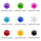Gemstone icon and logo designs Royalty Free Stock Photo