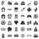 Gemstone icons set, simple style. Gemstone icons set. Simple style of 36 gemstone vector icons for web isolated on white background stock illustration