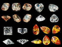 Gemstone isolated on black background Royalty Free Stock Image