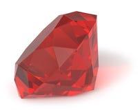 gemstone isolerad ruby Arkivfoto