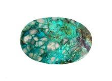 Gemstone Israeli chrysocolla, Royalty Free Stock Photo