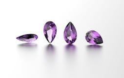 Gemstone. Jewelry background. Amethyst Royalty Free Stock Image