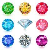 Gemstone jewerly set Royalty Free Stock Photos
