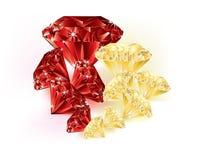 Gemstone - kolor żółty i czerwień Obraz Stock