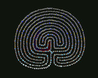 Gemstone labyrinth. Ritual expirience maze, way of life Stock Photo