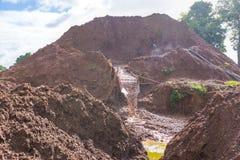 Gemstone mineing process Stock Images