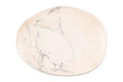 Gemstone na białym tle, biały jaspis Zdjęcie Stock