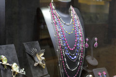 Gemstone  necklace Stock Photo