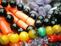 Gemstone  necklaces colourful Stock Photo