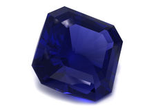 Gemstone preto ou azul da safira fotos de stock royalty free