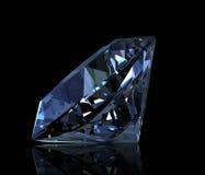 Gemstone round shape. Swiss blue topaz Stock Images